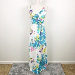 Yumi Kim Cleo Floral Silk Maxi Dress Vacation